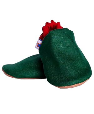 Skips Dual Color Booties - Green & Red