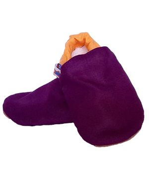 Skips Dual Color Booties - Purple & Yellow