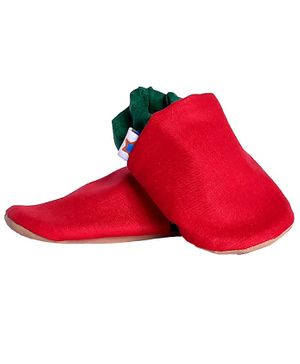Skips Dual Color Booties - Red & Green