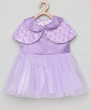 Tutus By Tutu Sleeveless Dress With Rosette Shrug - Purple