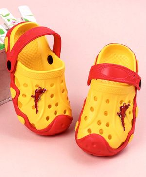 Marvel Clogs with Back Strap Iron Man Patch - Yellow