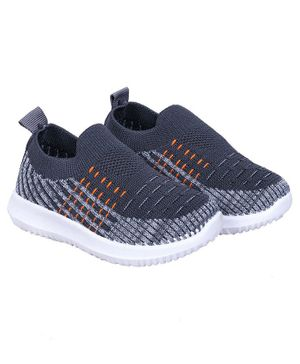 FEETWELL SHOES Colour Block Pattern Slip On Shoes - Grey