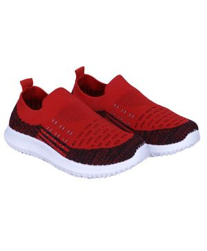 FEETWELL SHOES Colour Block Pattern Slip On Shoes - Red