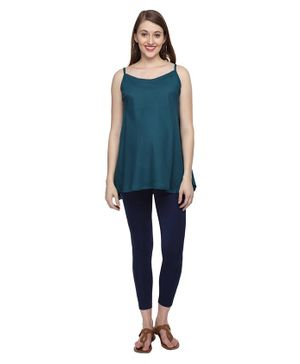 Morph Maternity Sleeveless Solid Tunic - Green