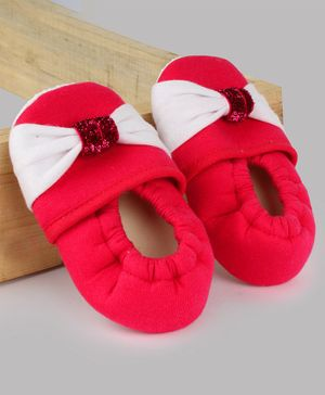 Daizy Bow Detailed Booties - Red