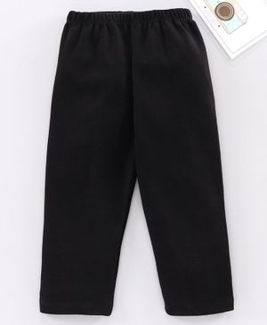 Babyhug Full Length Solid Lounge Pant - Black
