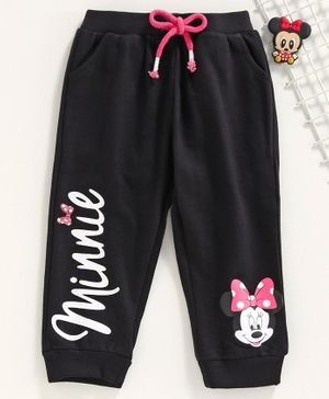 Disney by Babyhug Full Length Lounge Pant Minnie Mouse Print - Black