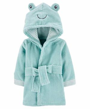 Carter's Frog Hooded Terry Robe - Blue