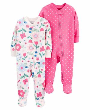 Carter's 2-Pack Cotton Zip-Up Sleep & Play - Pink