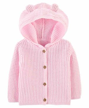 Carter's Hooded Cardigan Jacket - Pink
