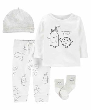 Carter's 4-Piece Cookie Take-Me-Home Set - White