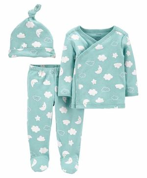 Carter's 3-Piece Take-Me-Home Set - Blue
