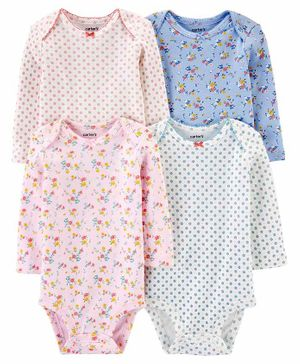 Carter's 4-Pack Floral Original Bodysuits - Multicolor