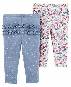 Carter's 2-Pack Cotton Pants - Blue Pink