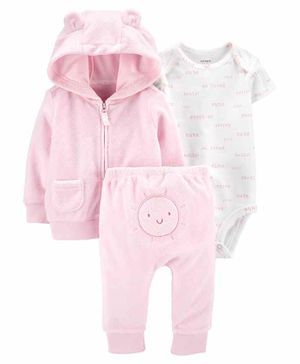 Carter's 3-Piece Sun Little Jacket Set - Pink