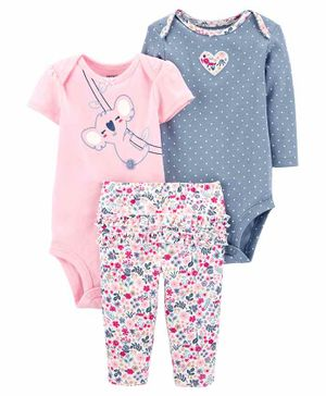 Carter's 3-Piece Koala Little Character Set - Pink Blue