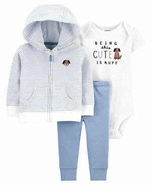 Carter's 3-Piece Dog Little Jacket Set - Blue