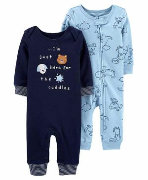Carter's 2 Pack Animal Jumpsuits - Blue