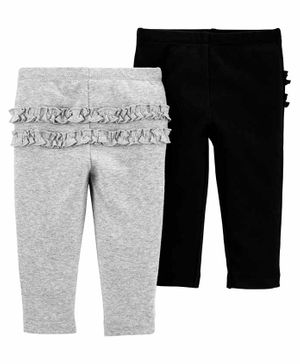 Carter's 2-Pack Cotton Pants - Grey Black