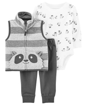 Carter's 3-Piece Little Vest Set - Grey