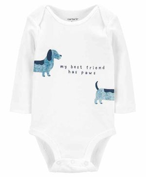 Carter's Dog Best Friend Original Bodysuit - White