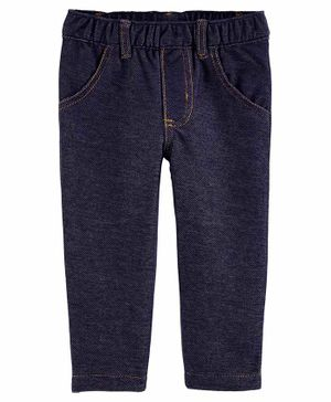 Carter's Pull-On Knit Denim Pants - Blue