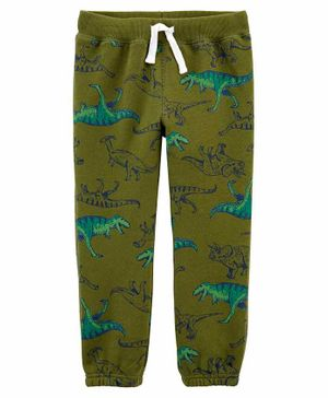 Carter's Dinosaur Pull-On Fleece Pants	- Green