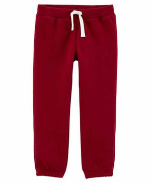 Carter's Pull-On Fleece Pants - Maroon