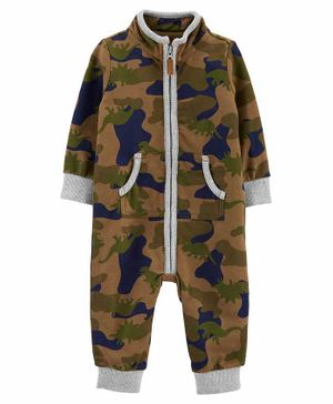 Carter's Camo French Terry Romper - Brown