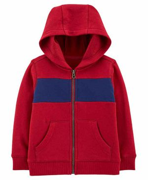 Carter's Zip-Up Fleece Hoodie - Maroon