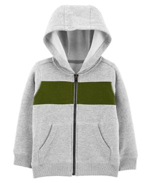 Carter's Zip-Up Fleece Hoodie - Grey