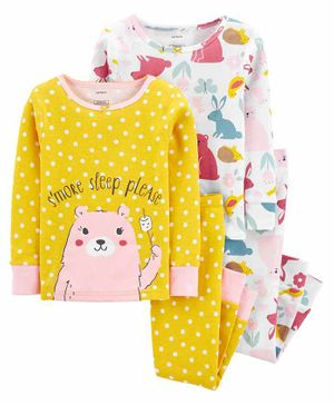 Carter's 4-Piece 100% Snug Fit Cotton PJs - Yellow