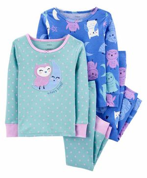 Carter's 4-Piece 100% Snug Fit Cotton PJs - Blue