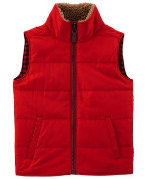 Carter's  Buffalo Check Twill Dress - Red Black