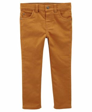 Carter's 5-Pocket Stretch Pants - Orange