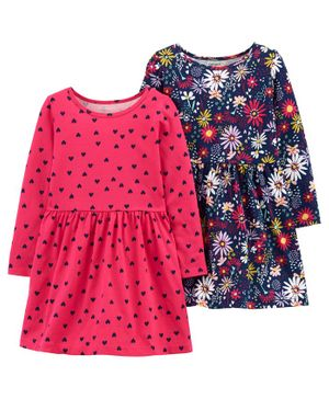Carter's 2-Pack Jersey Dresses - Pink