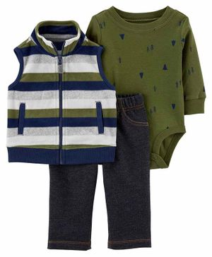 Carter's 3-Piece Little Vest Set - Multicolour