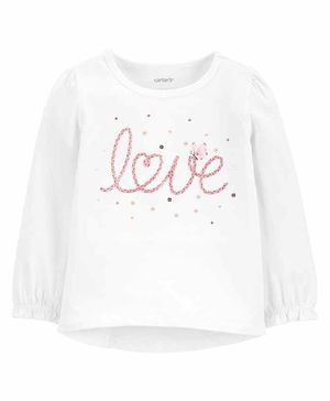Carter's Love Jersey Tee - White