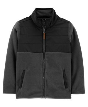 Carter's Zip-Up Fleece Jacket - Grey