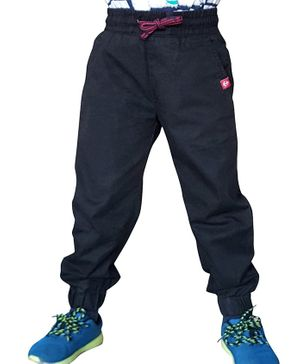 Campana Solid Full Length Joggers - Black