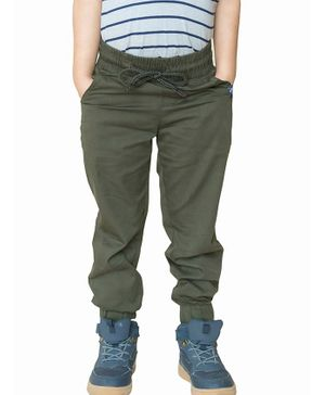 Campana Solid Full Length Joggers - Green