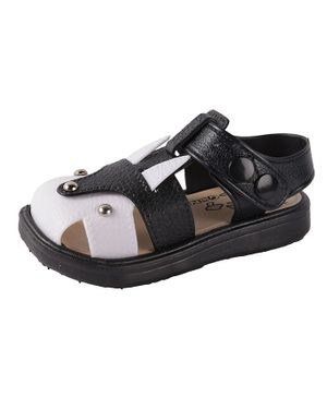 Yellow Bee Dual Shaded Sandals - Black