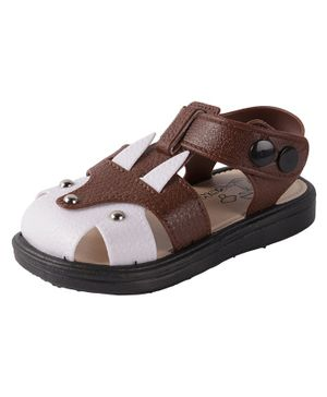 Yellow Bee Dual Shaded Sandals - Brown