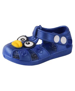 Yellow Bee Bird Design Sandals - Blue