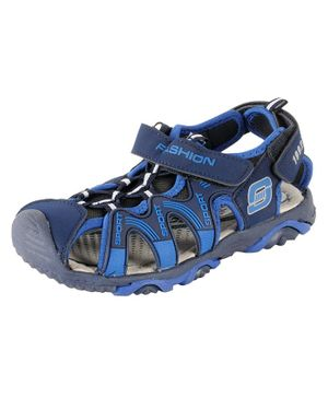 Yellow Bee Velcro Closure Sandals - Blue
