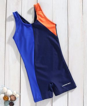 Lobster Sleeveless Legged Swimsuit - Navy Blue