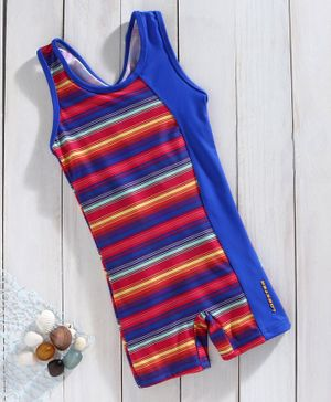 Lobster Sleeveless Legged Swimsuit - Fuchsia Blue