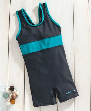 Lobster Sleeveless Legged Swimsuit - Black Sea Green