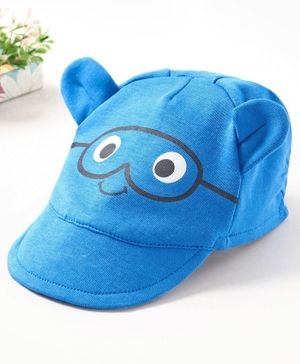 Babyoye Cotton Cap Face Print - Blue
