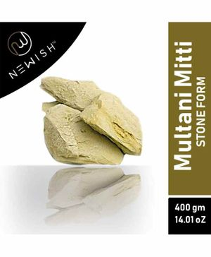 Newish Fullers Earth Multani Mitti Powder Stone Form - 400 g